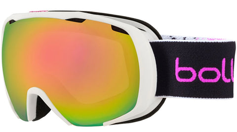 Bolle - Royal Matte White Pink Spray Snow Goggles / Rose Gold Lenses