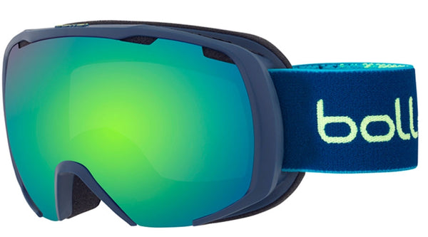 Bolle - Royal Matte Blue Yellow Spray Snow Goggles / Green Emerald Lenses