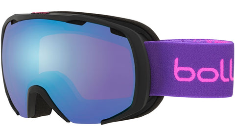 Bolle - Royal Matte Black Purple Spray Snow Goggles / Aurora Lenses