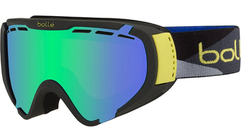 Bolle - Explorer Matte Black Camo Snow Goggles / Green Emerald Lenses