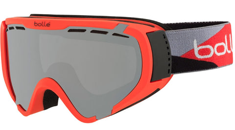 Bolle - Explorer Matte Red Camo Snow Goggles / Black Chrome Lenses
