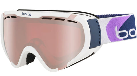 Bolle - Explorer Matte White Bubbles Snow Goggles / Vermillion Gun Lenses