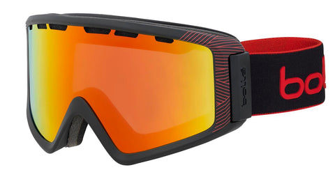 Bolle - Z5 OTG Matte Black Red Natura Snow Goggles / Sunrise Lenses