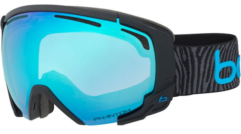 Bolle - Supreme OTG Matte Black Neon Blue Snow Goggles / NXT Modulator Vermillion Blue Lenses