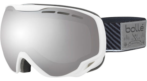 Bolle - Emperor White Stripes Snow Goggles / Black Chrome Lenses