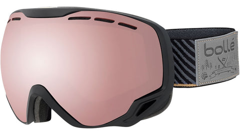 Bolle - Emperor Emperor Black Stripes Snow Goggles / Vermillion Gun Lenses