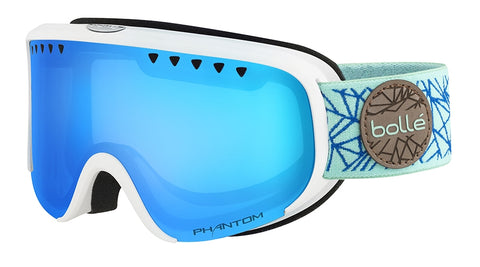 Bolle - Scarlett Matte White Blue Diamond Snow Goggles / NXT Modulator Vermillion Blue Lenses