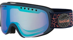 Bolle - Scarlett Matte Navy Rose Diamond Snow Goggles / Polarized Aurora Lenses
