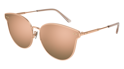 Bottega Venetta - BV0157SK Gold Sunglasses / Pink Lenses