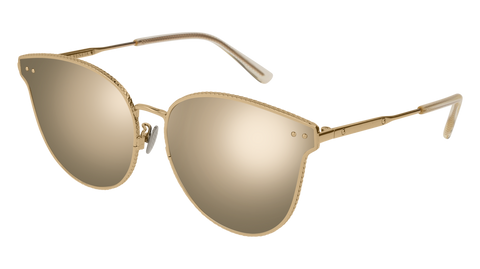 Bottega Venetta - BV0157SK Gold Sunglasses / Bronze Lenses