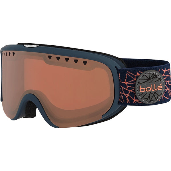 Bolle - Scarlett Matte Navy Rose Diamond Snow Goggles / Vermillion Gun Lenses