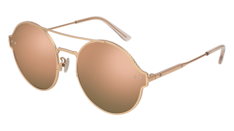 Bottega Venetta - BV0141S Gold Sunglasses / Pink Lenses