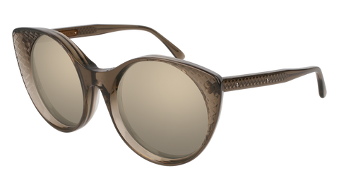 Bottega Venetta - BV0148S Brown Sunglasses / Gold Lenses