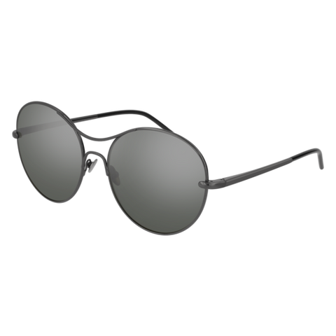 Pomellato - PM0034S 57mm Ruthenium Sunglasses / Dark Silver Lenses