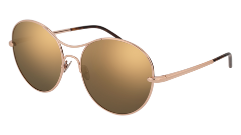 Pomellato - PM0034S 57mm Gold Sunglasses / Pink Bronze Lenses
