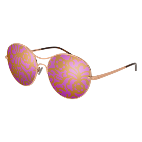 Pomellato - PM0034S 57mm Gold Sunglasses / Pink Multi colors Lenses