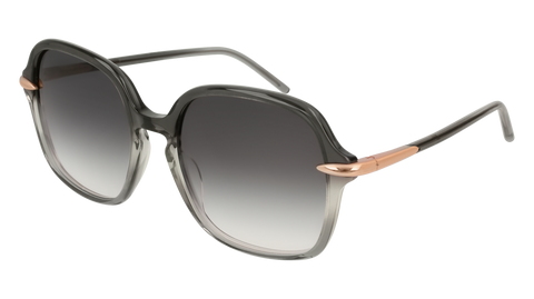 Pomellato - PM0035S 56mm Grey Sunglasses / Shiny Grey Lenses