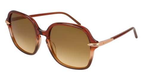Pomellato - PM0035S 56mm Brown Sunglasses / Shiny Brown Lenses
