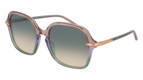 Pomellato - PM0035S 56mm Violet Sunglasses / Multicolor Green Lenses