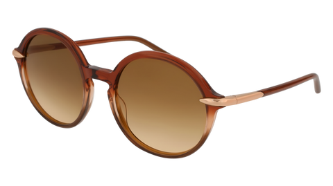 Pomellato - PM0036S 54mm Brown Sunglasses / Shiny Brown Lenses