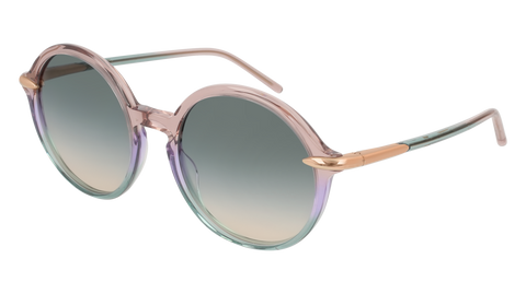 Pomellato - PM0036S 54mm Violet Sunglasses / Multicolor Green Lenses