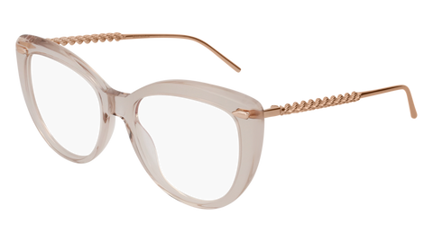 Boucheron - BC0046O Nude Gold Eyeglasses / Demo Lenses