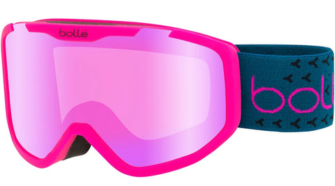Bolle - Rocket Plus Matte Pink Blue Snow Goggles / Rose Gold Lenses