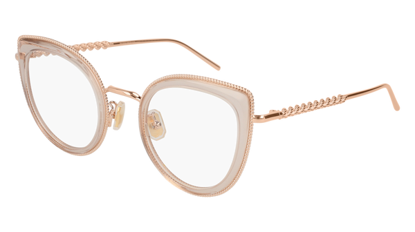 Boucheron - BC0047O Nude Gold Eyeglasses / Demo Lenses