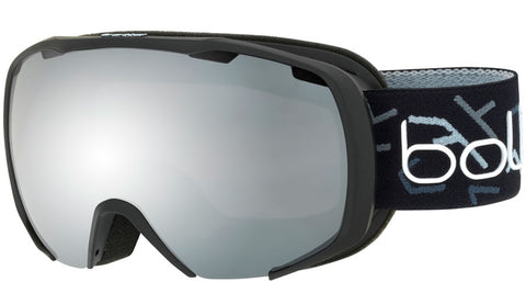 Bolle - Royal Matte Black Grey Snow Goggles / Black Chrome Lenses