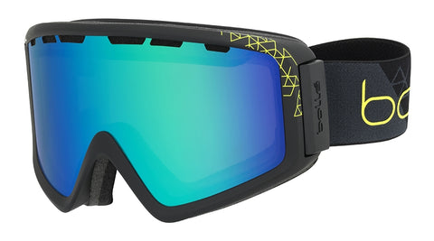 Bolle - Z5 OTG Matte Black Lime Snow Goggles / Green Emerald Lenses