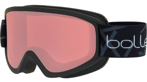 Bolle - Freeze Matte Black Snow Goggles / Vermillon Lenses