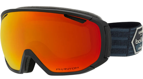 Bolle - Tsar Matte Black Patch Snow Goggles / Phantom Fire Red Lenses