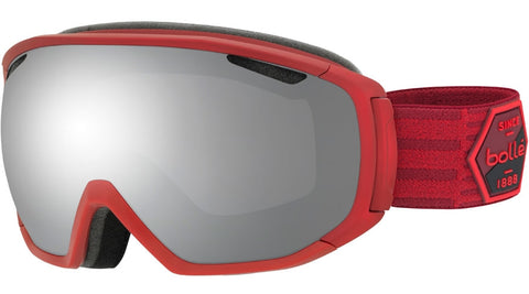 Bolle - Tsar Matte Red Patch + Black Snow Goggles / Black Chrome Lenses