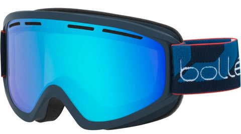 Bolle - Schuss Matte Navy Snow Goggles / Light Vermillon Blue Lenses
