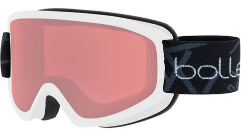 Bolle - Freeze Matte White Snow Goggles / Vermillon Lenses