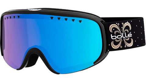 Bolle - Scarlett Shiny Black Night Snow Goggles / Photochromic Vermillon + Blue Lenses