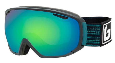 Bolle - Tsar Matte Black Blue Matrix Snow Goggles / Green Emerald Lenses