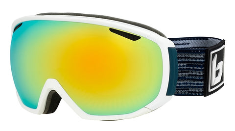 Bolle - Tsar Matte White Blue Matrix Sunshine Snow Goggles / Sunshine Lenses