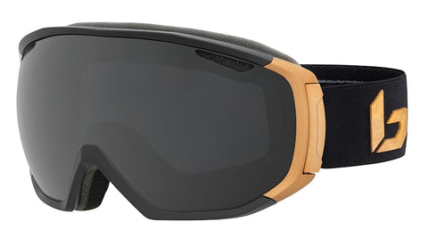 Bolle - Tsar Matte Black Gold Snow Goggles / Grey Lenses