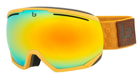 Bolle - Northstar Matte Brown Squares Snow Goggles / Sunshine Lenses