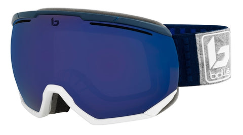 Bolle - Northstar Matte Navy White Snow Goggles / Bronze Blue Lenses