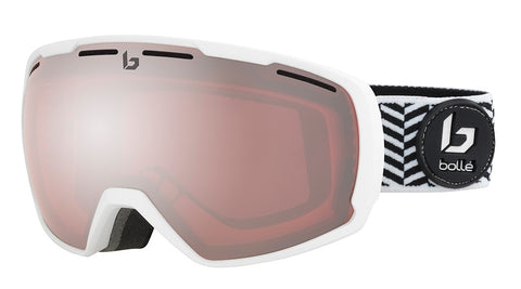 Bolle - Laika Matte White Waves Snow Goggles / Vermillon Gun Lenses
