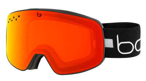 Bolle - Nevada Matte Black Line Snow Goggles / Photochromic Fire Red Lenses