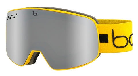 Bolle - Nevada Matte Yellow Line Snow Goggles / Black Chrome Lenses