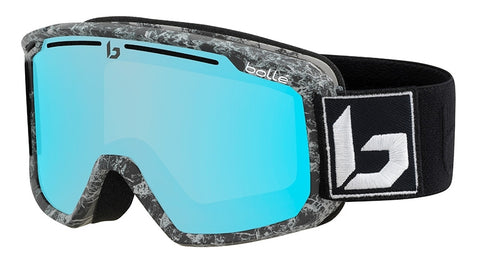 Bolle - Maddox Matte Black Marble Snow Goggles / Photochromic Vermillon Blue Lenses