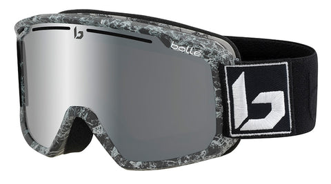 Bolle - Maddox Matte Black Marble Snow Goggles / Black Chrome Lenses
