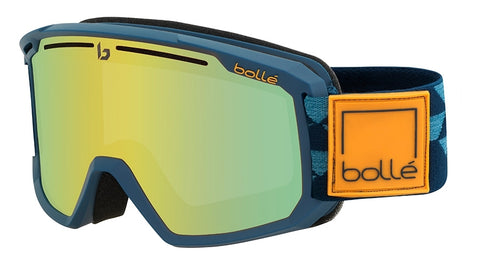 Bolle - Maddox Matte Blue Checkerboard Snow Goggles / Sunshine Lenses