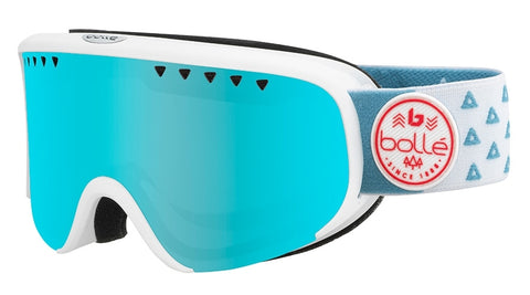 Bolle - Scarlett Matte White Triangle Snow Goggles / Photochromic Vermillon Gun Lenses