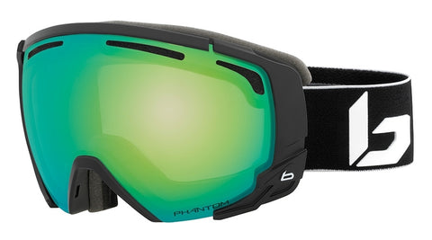 Bolle - Supreme OTG Matte Black Corp Snow Goggles / Phantom Green Emerald Lenses