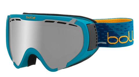 Bolle - Explorer OTG Matte Petrol Blue Snow Goggles / Black Chrome Lenses